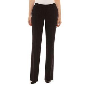 Worthington women curvy fit trouser leg black 20ws